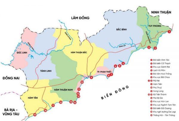 Bình Thuận giáp tỉnh nào